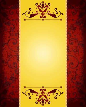 Gorgeous golden vintage background Vector