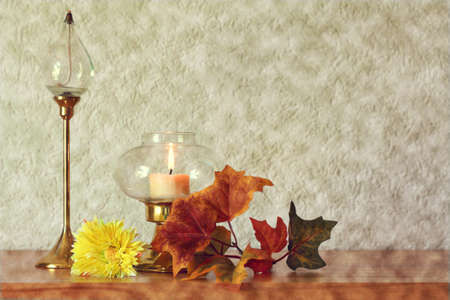 Autumn Still Life.Grunge retro background Stock Photo - 10469280