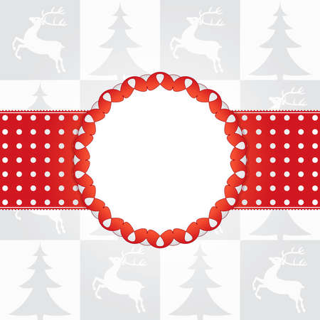 Template frame design for christmas card Gift box Stock Vector - 10550971