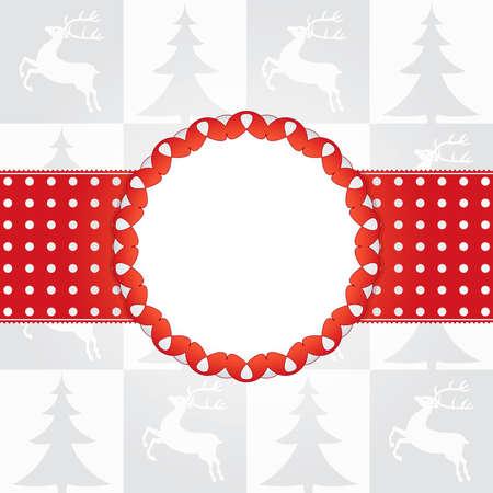 Template frame design for christmas card Gift box Stock Vector - 10550971
