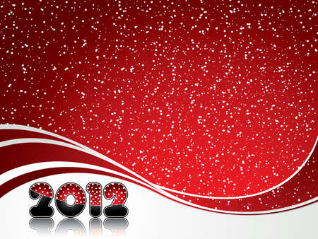 Red abstract Happy New Year 2012 background Vector