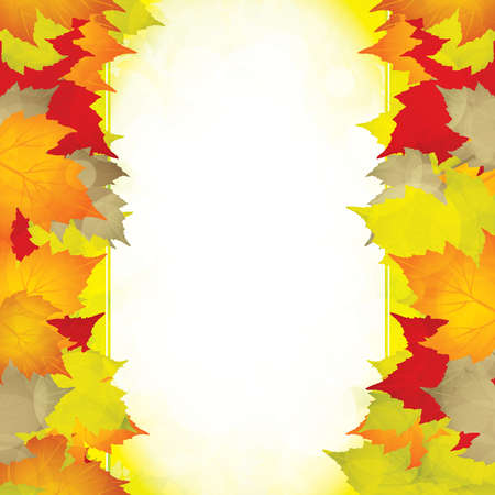 Autumn leaves frame.Vector Stock Vector - 10622287
