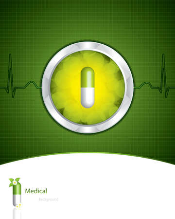 narcotic: Green alternative medication concept - vector illustration