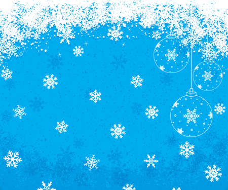 Blue Christmas background with snowflakes. Vector