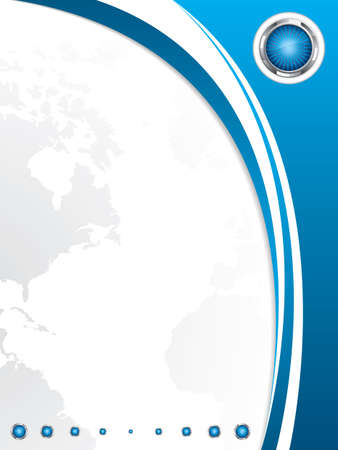 Clean futuristic design template with earth globe.Brochure Illustration