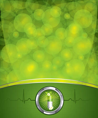 hospitals: Green alternative medication concept - vector illustration