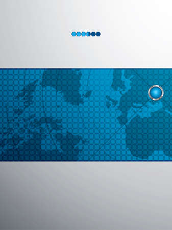 Red futuristic vector design template with earth globe.Brochure Stock Vector - 11275883