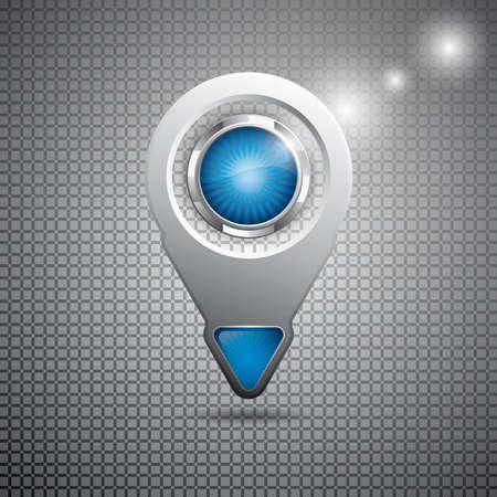 Futuristic arrow style web element on metal background Vector