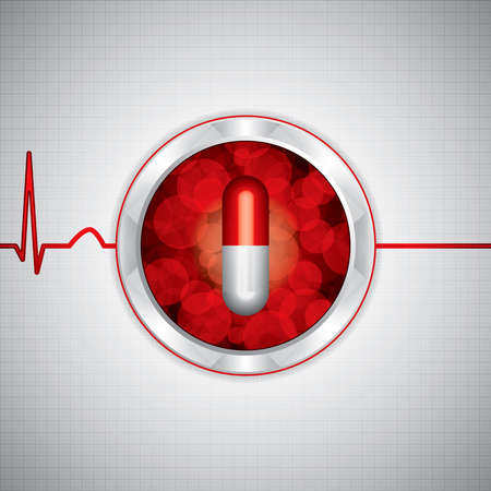heroine: Anti drug medische background.Vector Stock Illustratie
