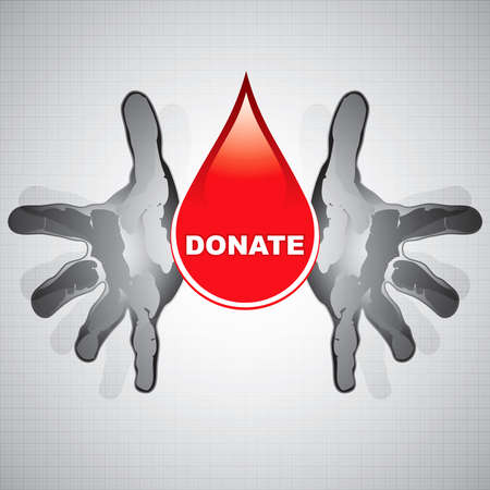 Blood donation vector.Medical background Stock Vector - 11386404