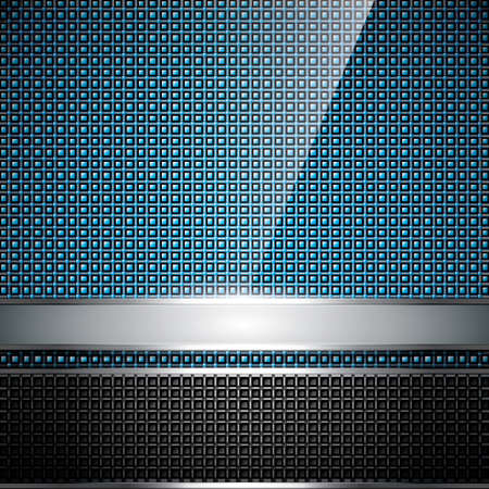 blue metallic background: Abstract background, metallic silver banners, vector Illustration