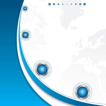 Clean futuristic vector design template with earth globe.Brochure Vector