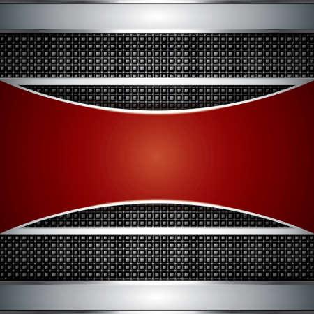 metallic banners: Abstract background, elegant metallic banners