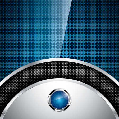 blue metallic background: Abstract metallic background - steel style vector Illustration