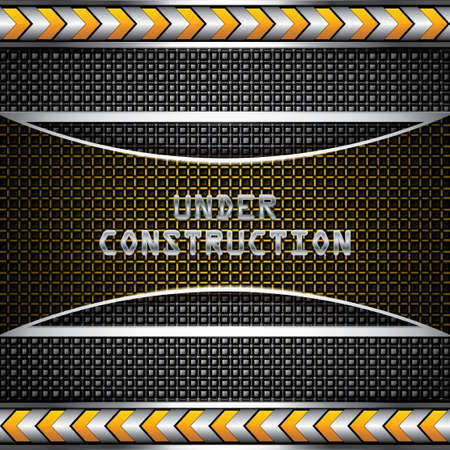Abstract under construction background - vector illustration  Vector