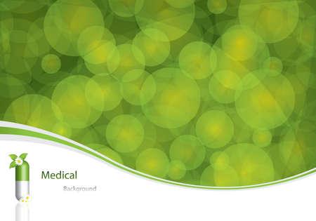 medicina natural: Concepto verde medicaci�n alternativa - ilustraci�n vectorial
