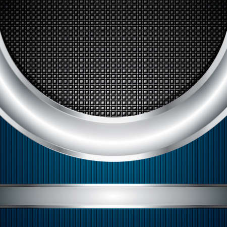 Abstract background, metallic silver banners, vector Vector