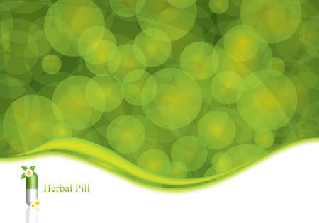 quimica verde: Concepto verde medicaci�n alternativa - ilustraci�n vectorial