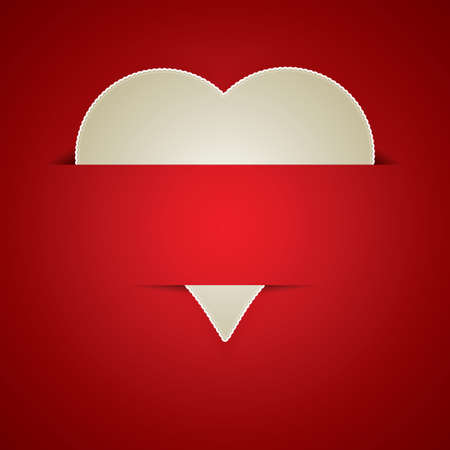 paper curl: Valentines day card vector