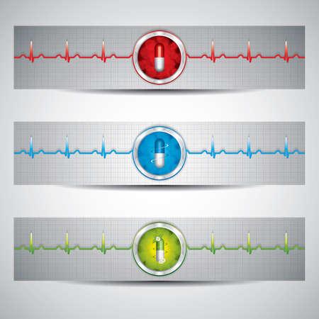 Alternative medication concept - three medical banner  Vector