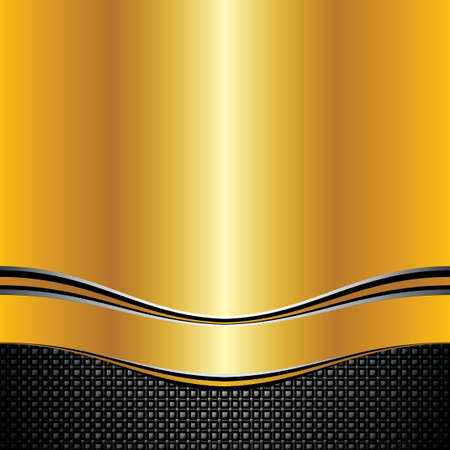 Abstract golden background - vector illustration  Vector