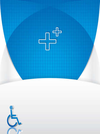 Disabled persons supporting medical template Stock Vector - 12055297