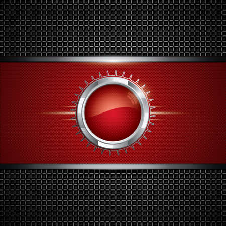 Abstract background, metallic red brochure, vector Vector