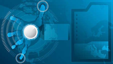 A hand over a hi-tech screen.A future technology Stock Vector - 12185041