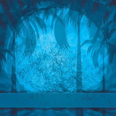 Blue grunge summer holiday background Stock Vector - 12185033
