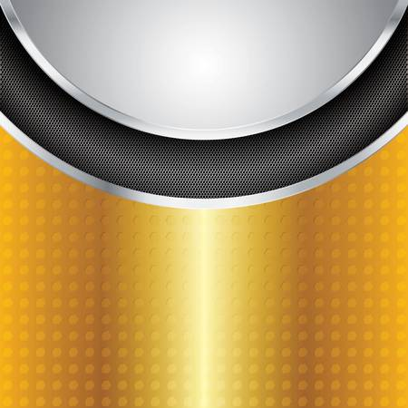 brushed metal background: Abstract golden background - vector illustration
