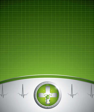 Green alternative medication concept - Medical background  Vector