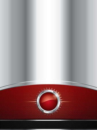 Abstract background, metallic red brochure, vector Stock Vector - 12356880