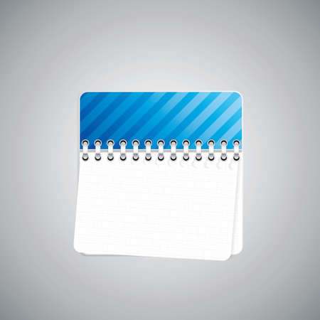 Blue checkered notebook  Vector