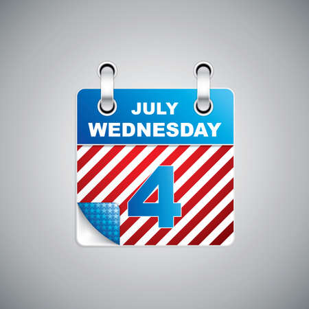 Independence Day - Fourth July Calendar Date Vector