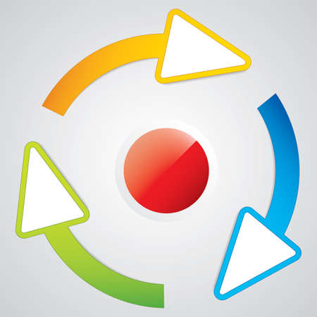 circular flow: Arrows circle sign  Illustration