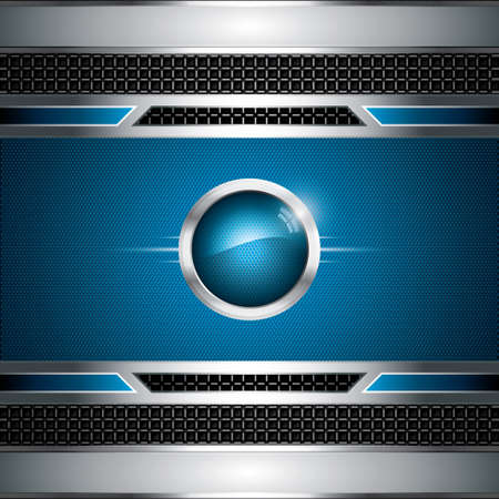 Abstract background, metallic blue brochure Vector