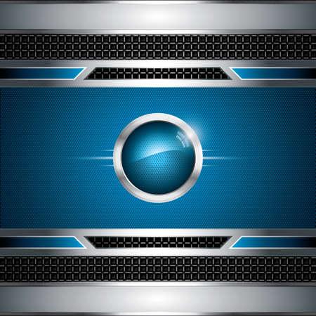 blue metallic background: Abstract background, metallic blue brochure