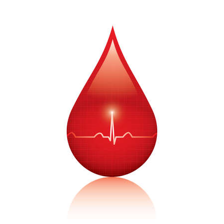 blood donation: ood drop isolated on white background Medical vector Illustration