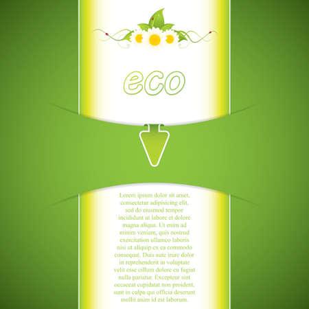 Eco friendly concept design Vector