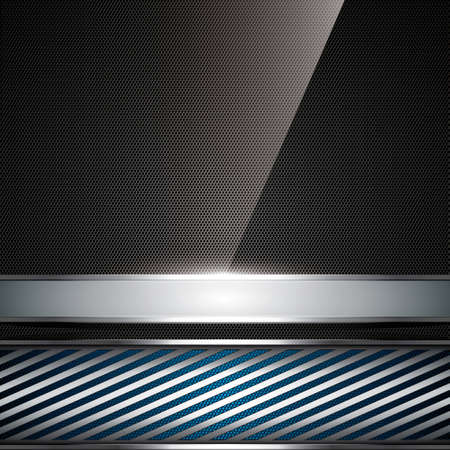 Abstract background, metallic blue brochure, vector Vector