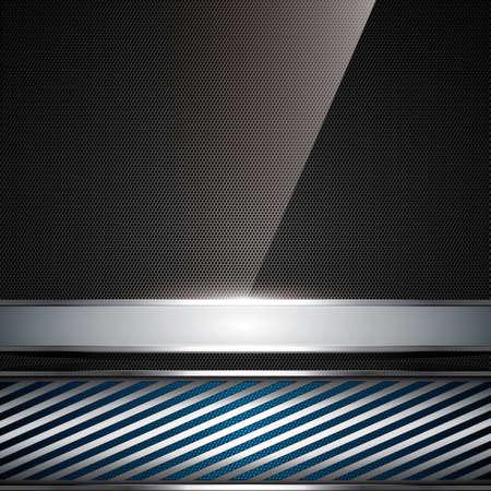 Abstract background, metallic blue brochure, vector Stock Vector - 12839162