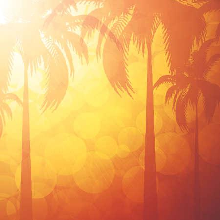 tropical background: Orange summer holiday background Illustration