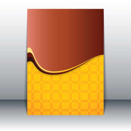 Limpie Folleto abstracto flyer vector Ilustración de vector
