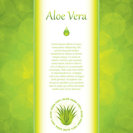 herbal medicine: Aloe Vera concept design