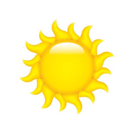 Sun symbol isolated on white Stock Vector - 13175964