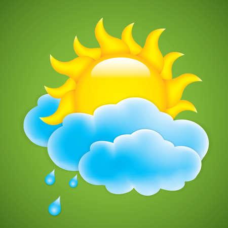 rising temperature: Sun with cloud