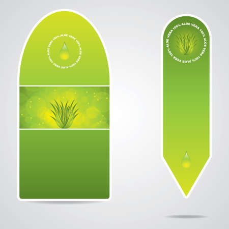 Aloe Vera banners Stock Vector - 13273072