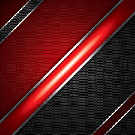 Abstract background, metallic red brochure Stock Vector - 13403368