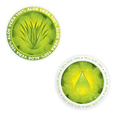 Aloe Vera stickers Stock Vector - 13403358