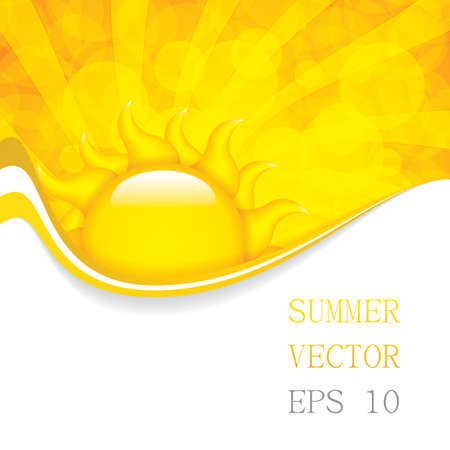 sunstroke: Summer background with place for your content  Illustration